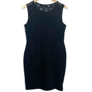 H&M Black Sleeveless Bodycon Lace Dress Medium